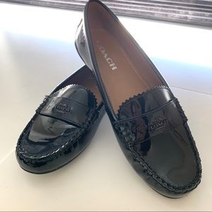 NEW! Women's size 8 Coach leather Odette loafer